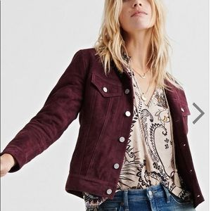 Lucky Brand Luxe Suede Trucker Jacket Small